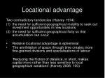 locational advantage