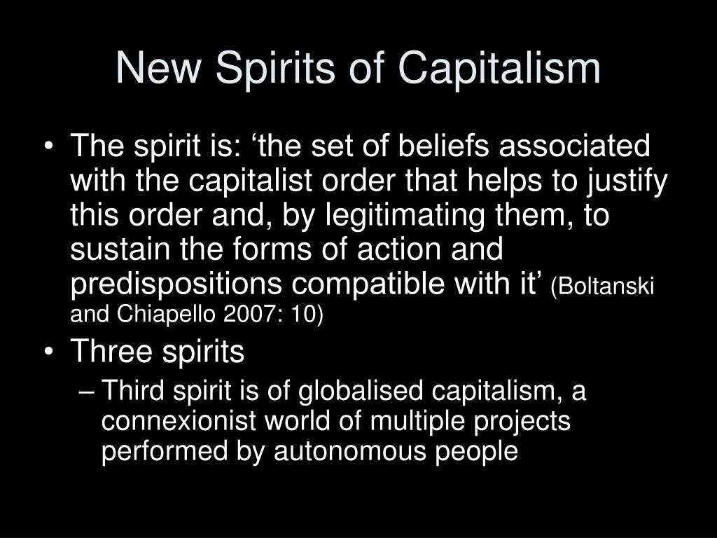 New Spirits of Capitalism