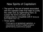 new spirits of capitalism