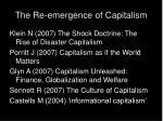 the re emergence of capitalism