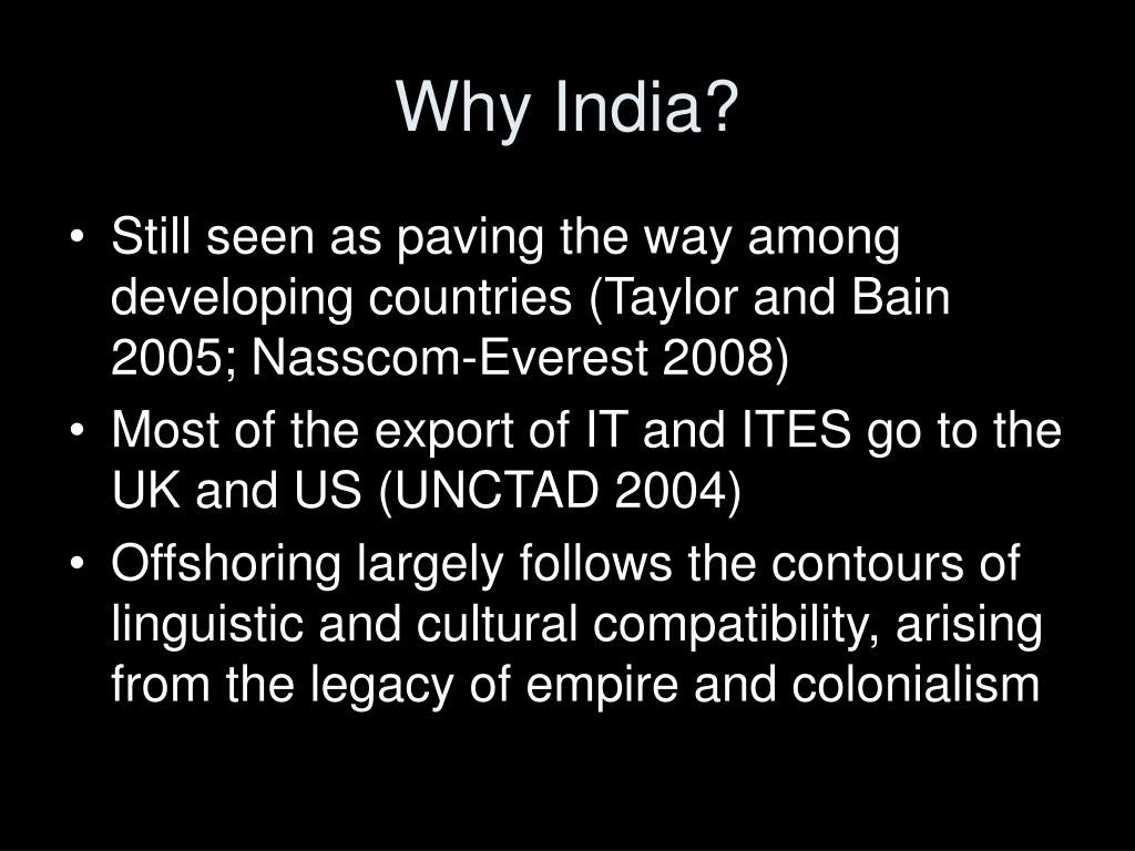 Why India?