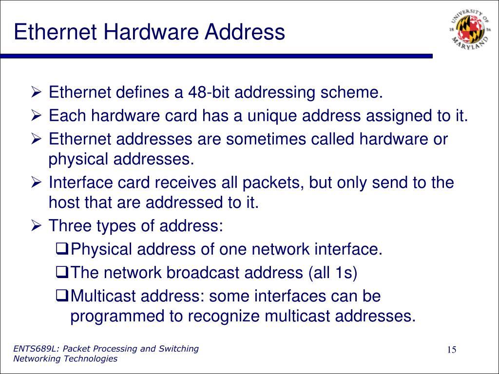 Ethernet Hardware Address