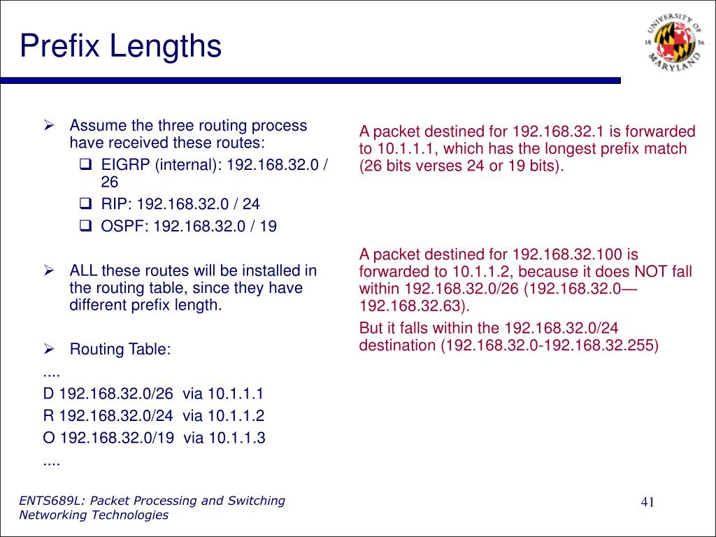 Prefix Lengths