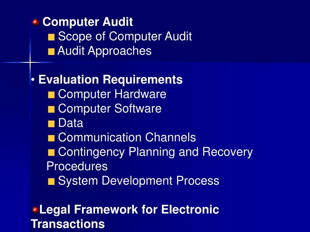 Computer Audit