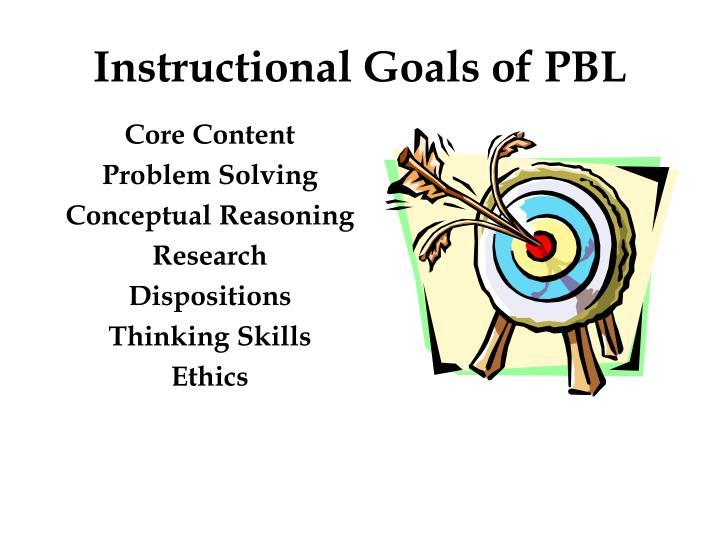 Instructional Goals of PBL