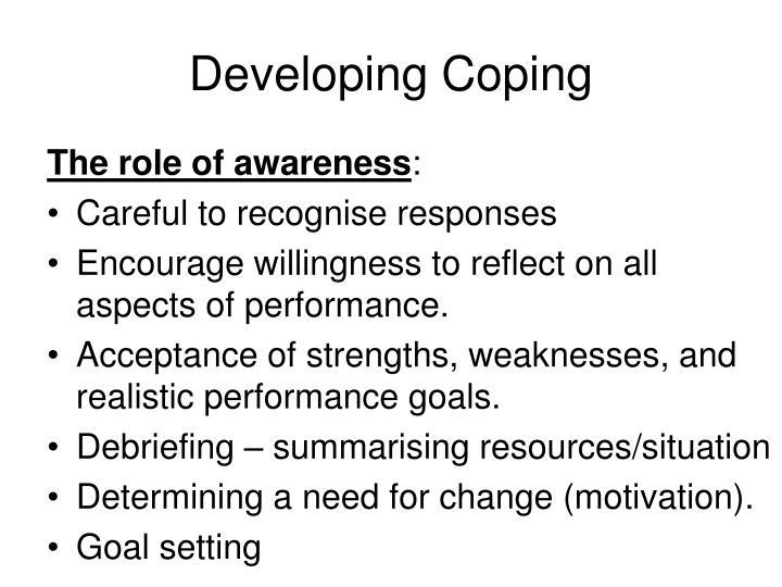 Developing Coping