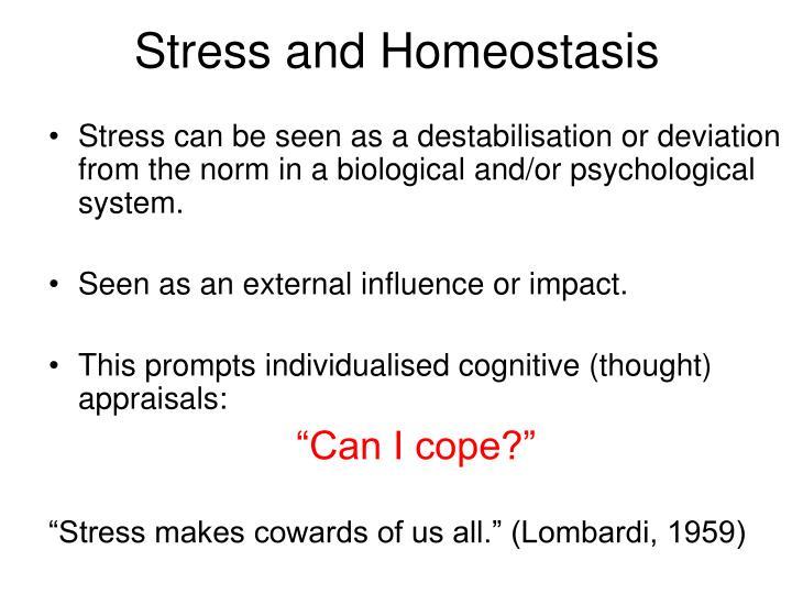 Stress and Homeostasis