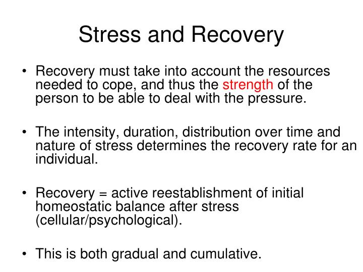 Stress and Recovery