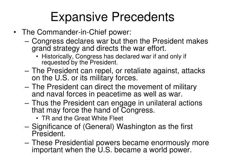 Expansive Precedents
