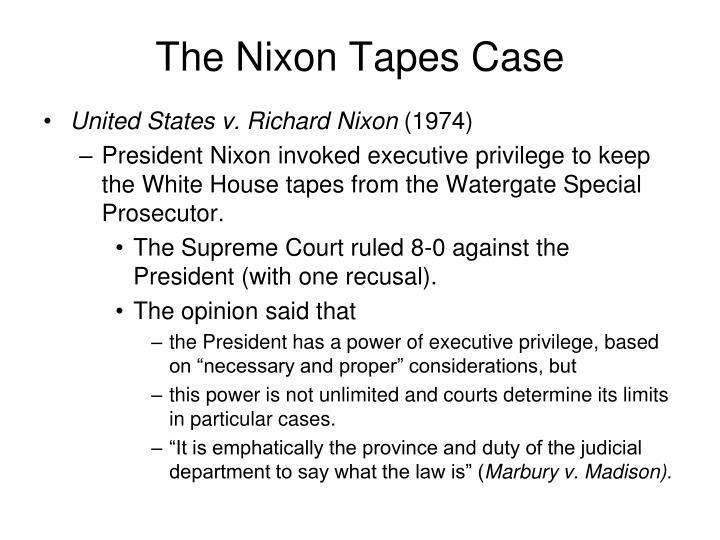 The Nixon Tapes Case