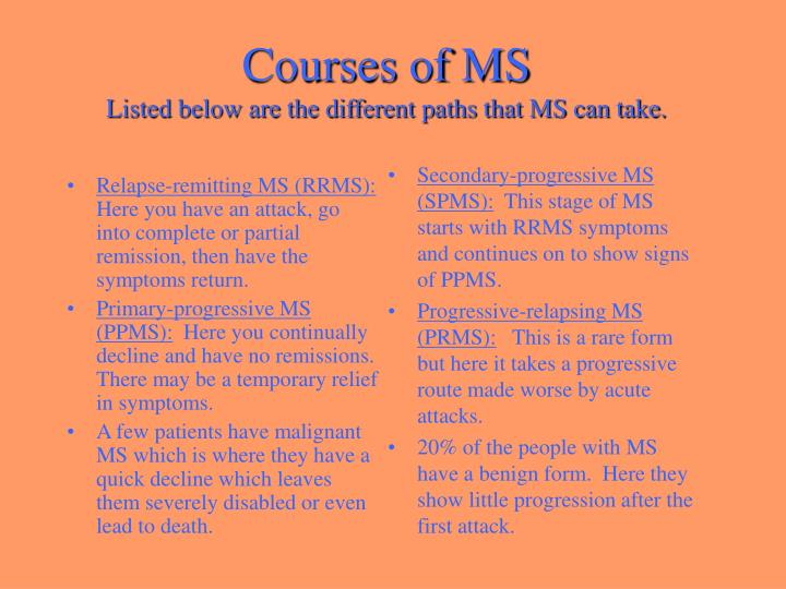 Relapse-remitting MS (RRMS):