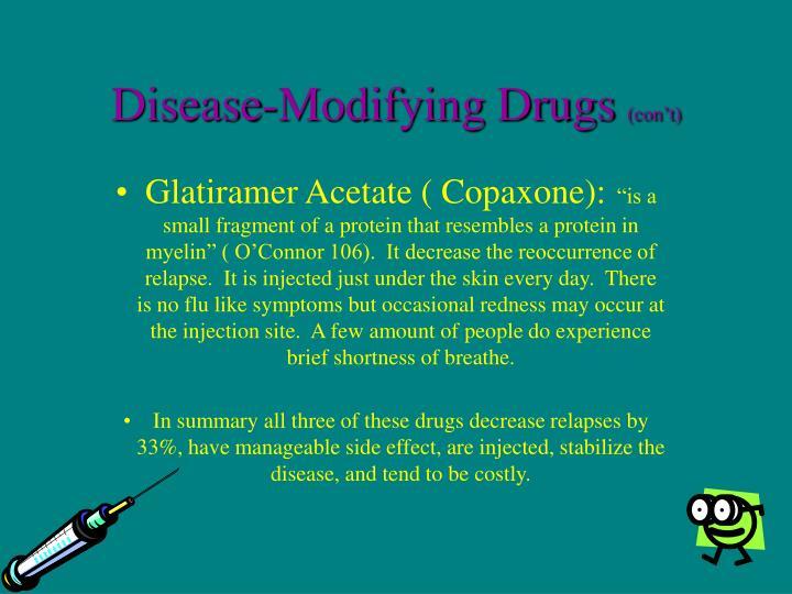 Disease-Modifying Drugs