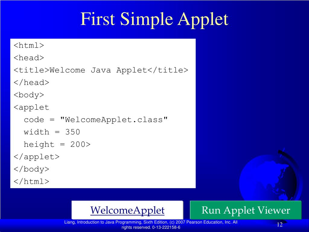 First Simple Applet