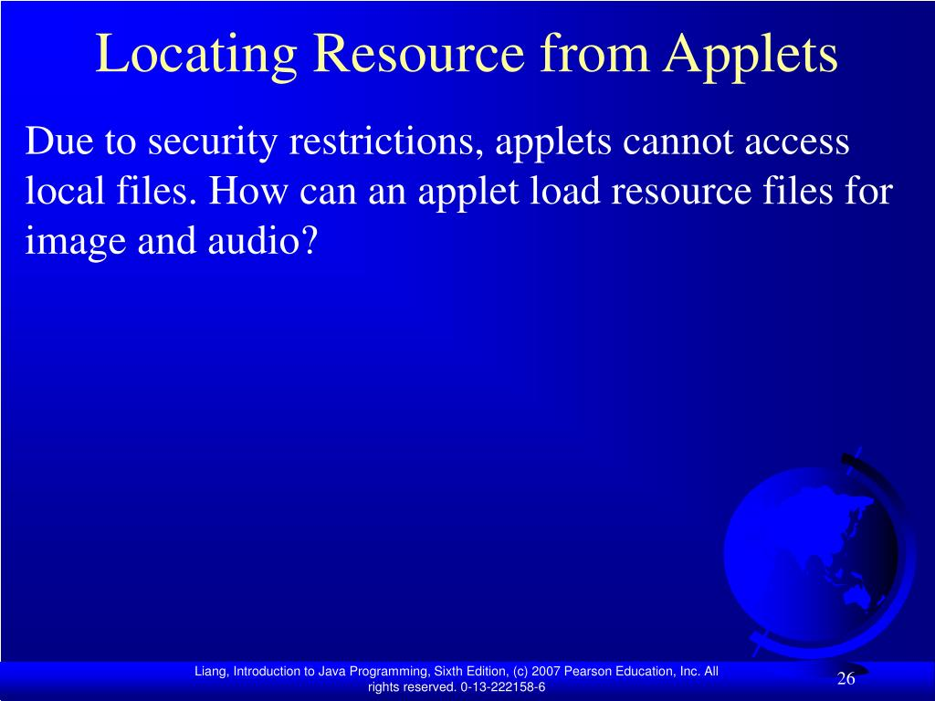 Locating Resource from Applets