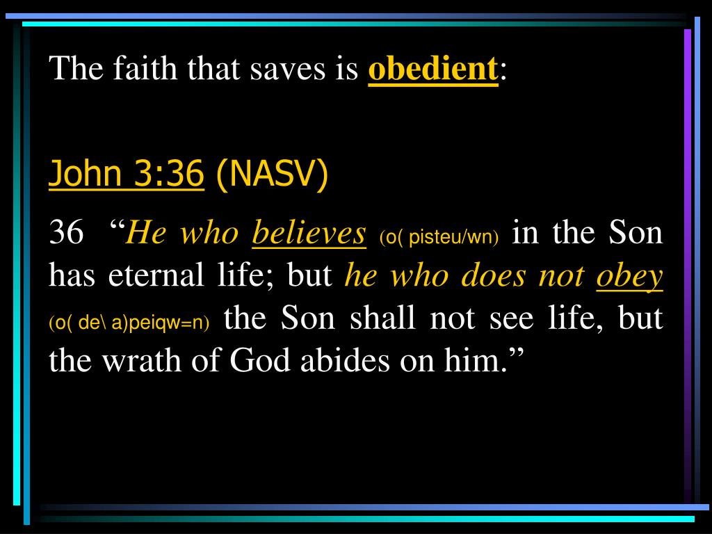 The faith that saves is