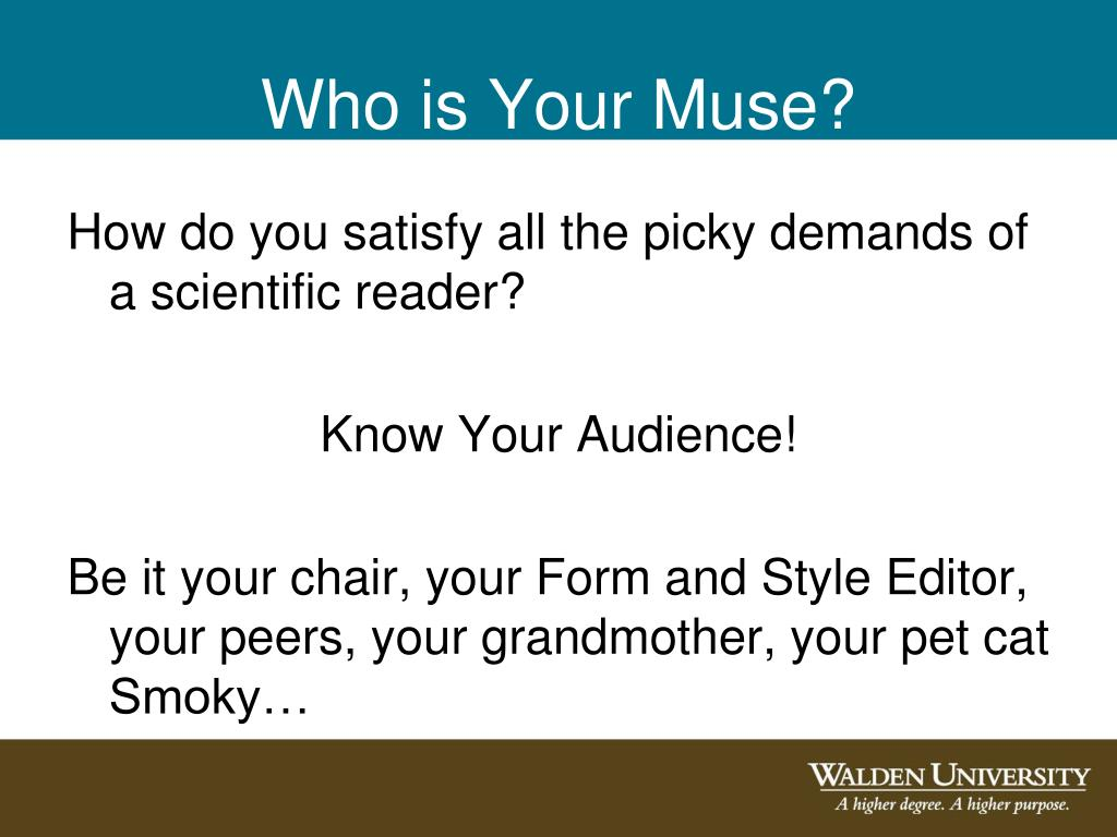 Who is Your Muse?