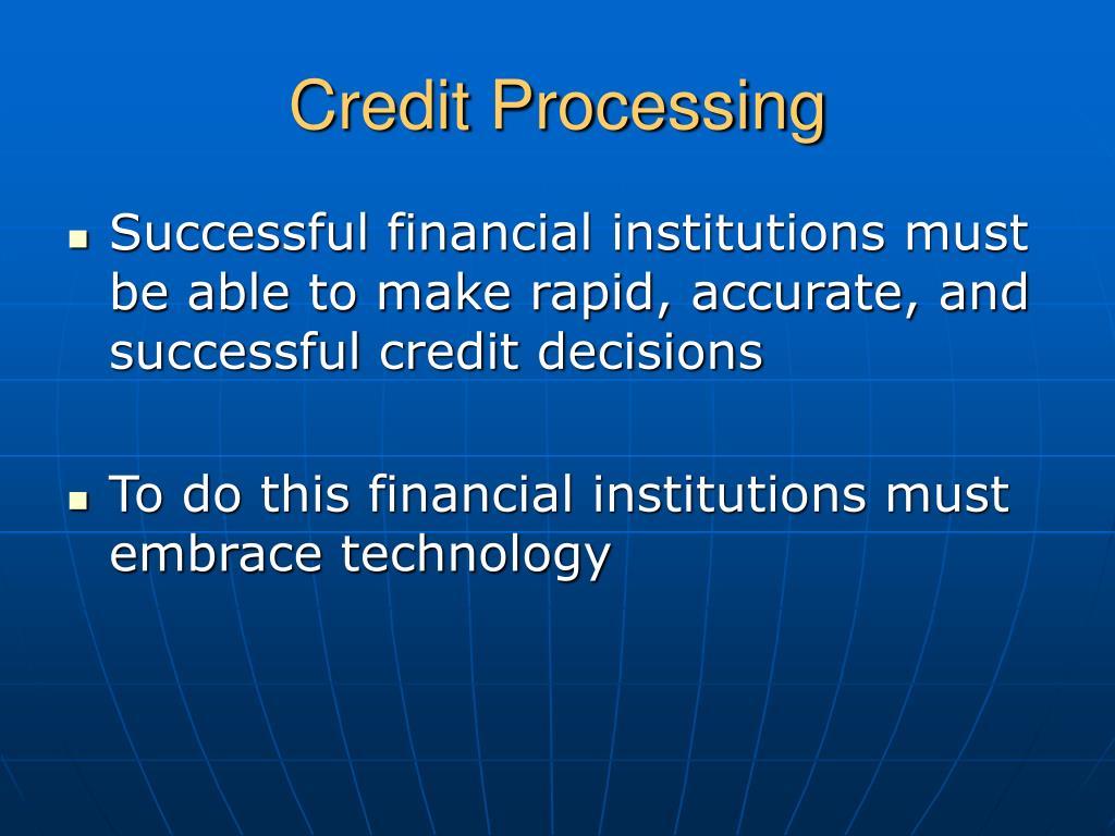 Credit Processing