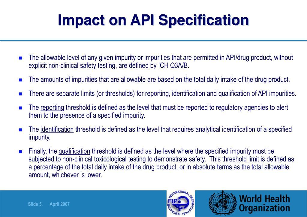 Impact on API Specification