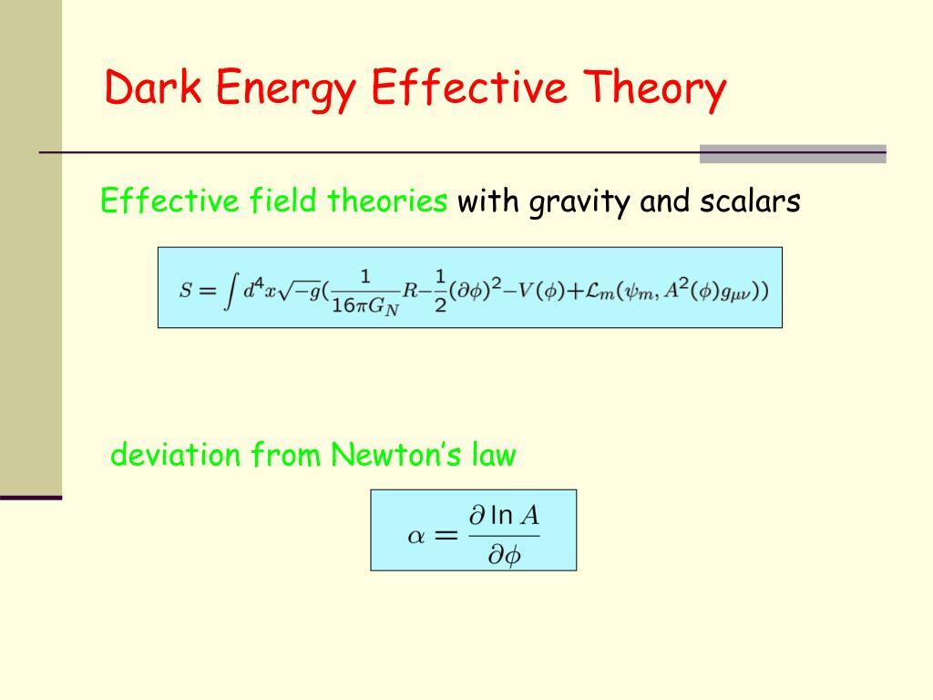 Dark Energy Effective Theory