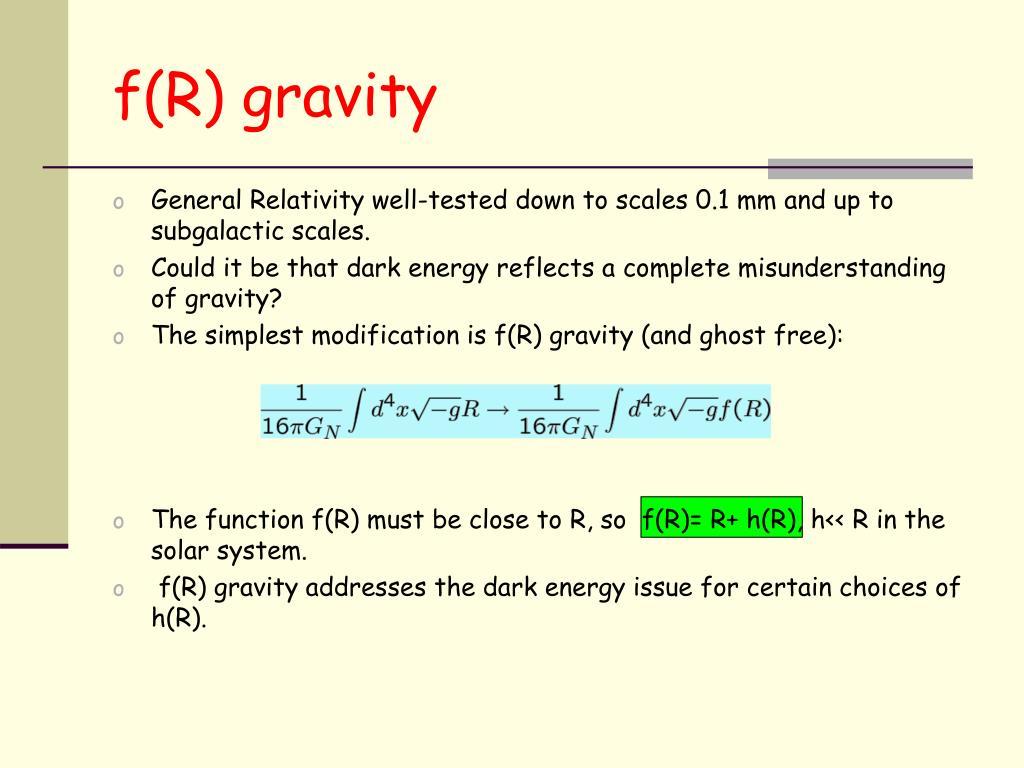 f(R) gravity