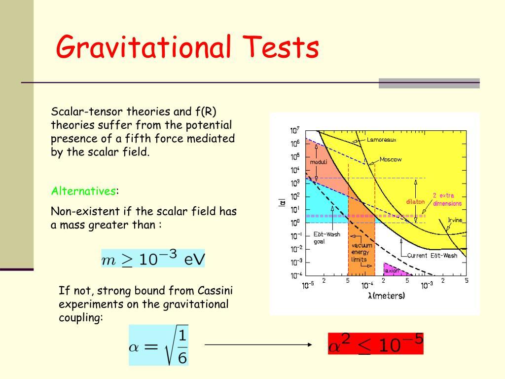 Gravitational Tests