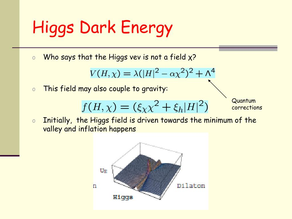 Higgs Dark Energy