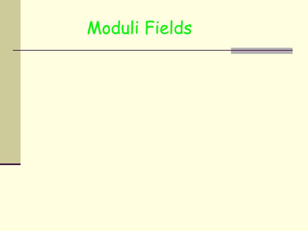 Moduli Fields