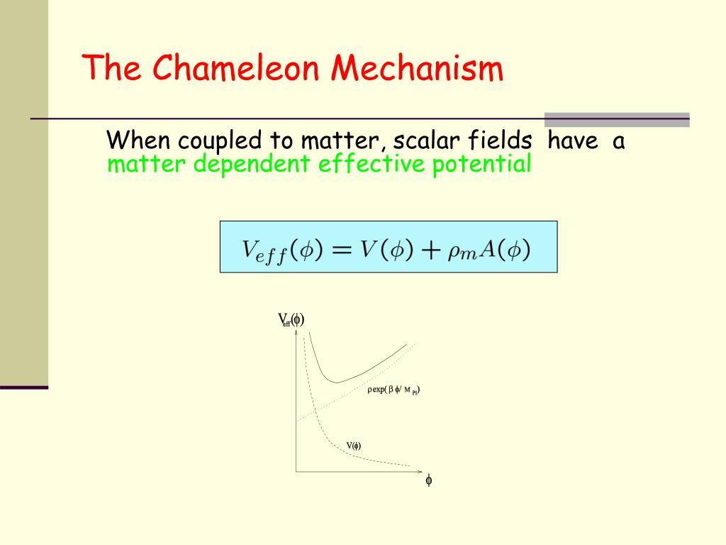 The Chameleon Mechanism