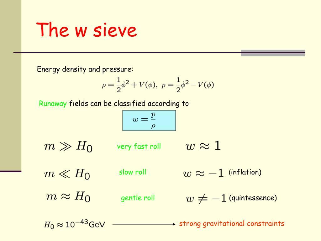The w sieve