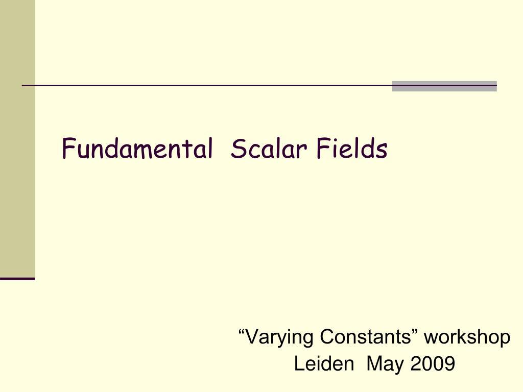 """Varying Constants"" workshop"