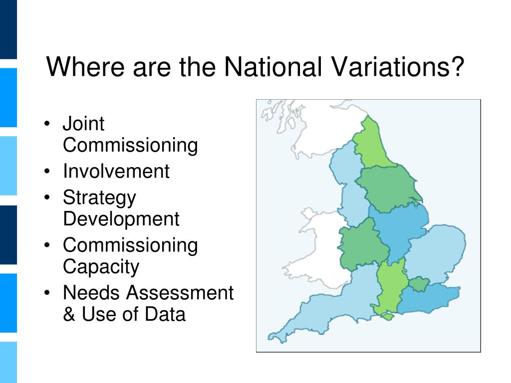 Where are the National Variations?