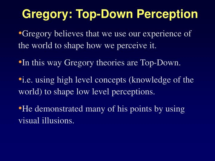 Gregory: Top-Down Perception