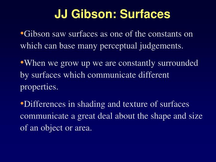 JJ Gibson: Surfaces