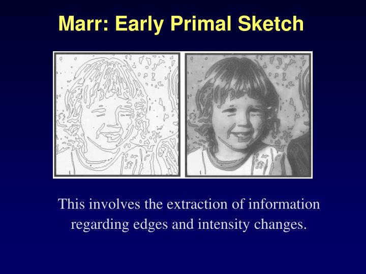Marr: Early Primal Sketch