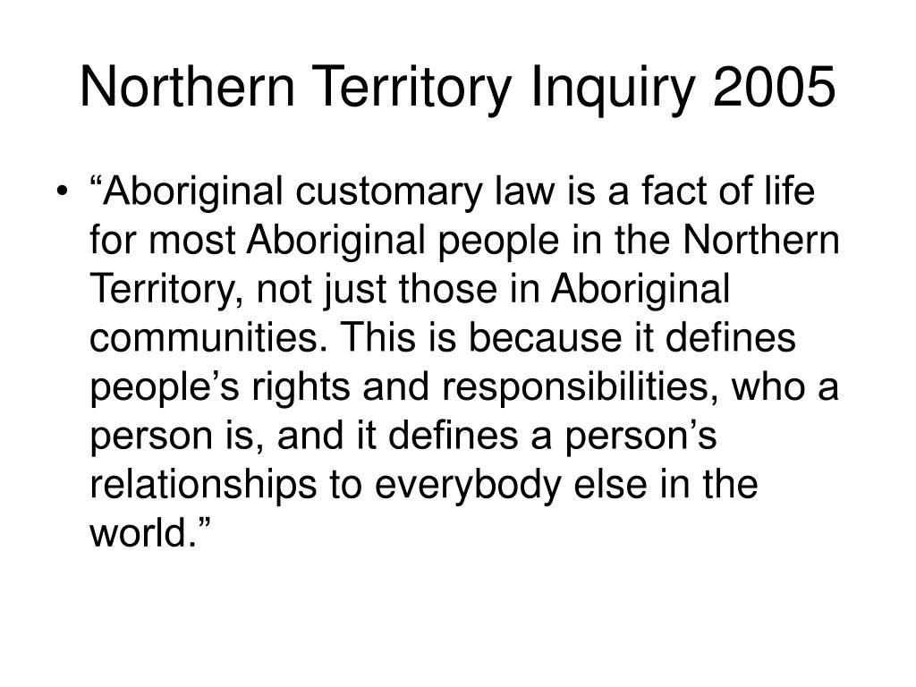 Northern Territory Inquiry 2005