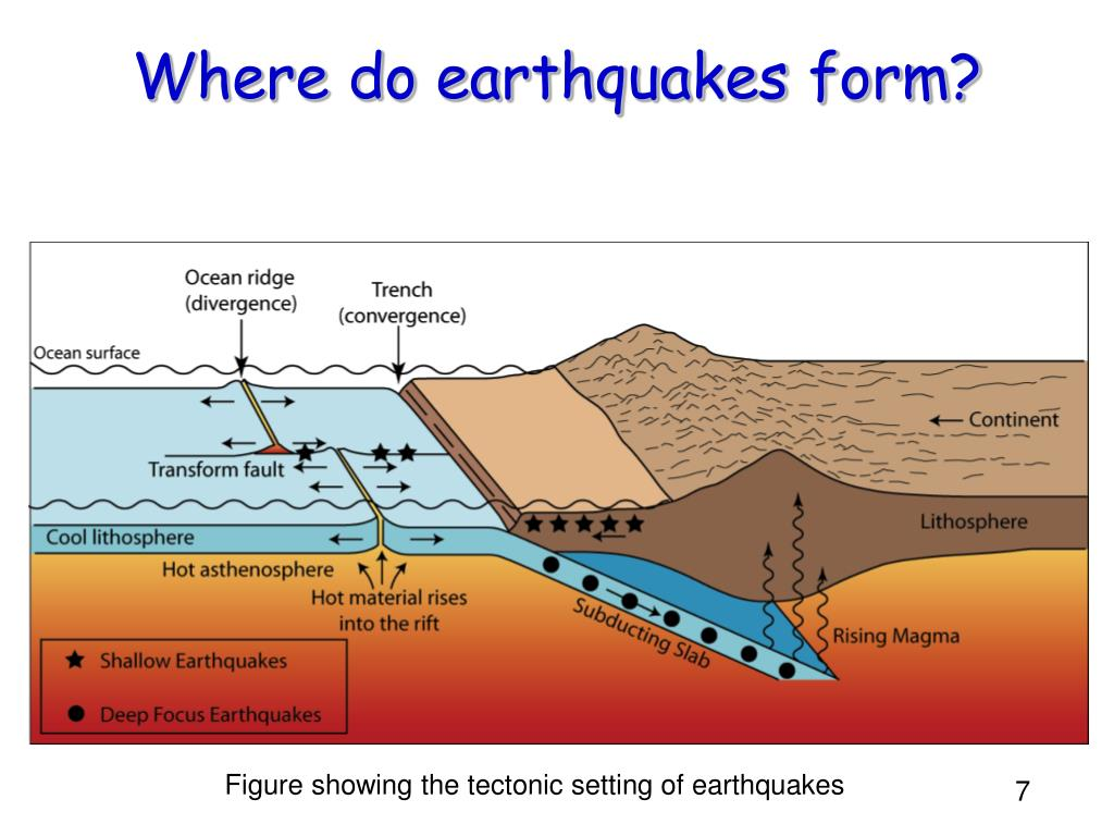 the formation of tsunamis and earthquakes Earthquakes according to dictionaryreferencecom an earthquake is a: series of vibrations induced in the earth's crust by the abrupt rupture and rebound of rocks in which elastic strain has been slowly accumulating.