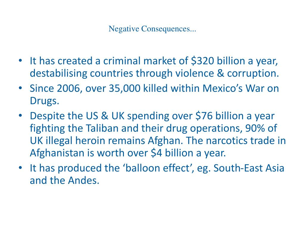 Negative Consequences...
