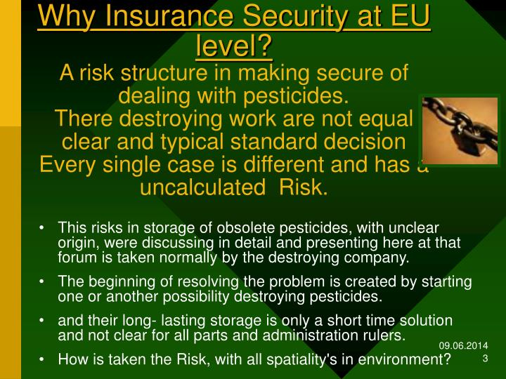 Why Insurance Security at EU level?