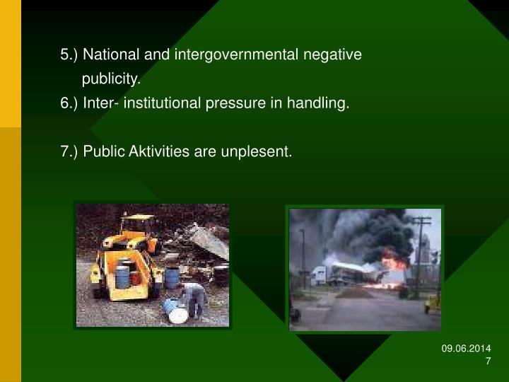 5.) National and intergovernmental negative