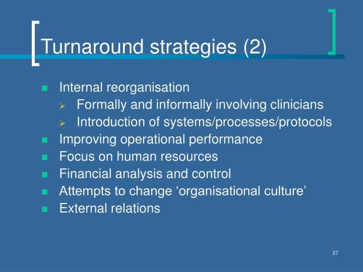Turnaround strategies (2)