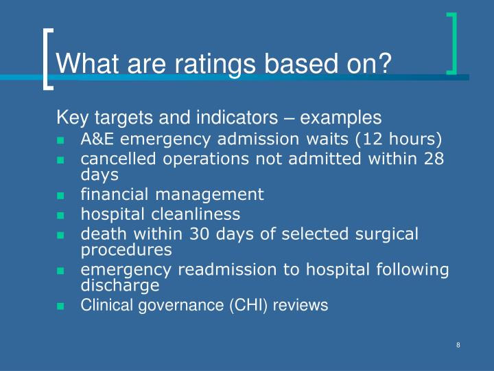 What are ratings based on?