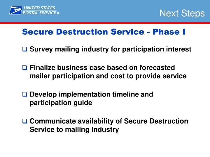 Survey mailing industry for participation interest