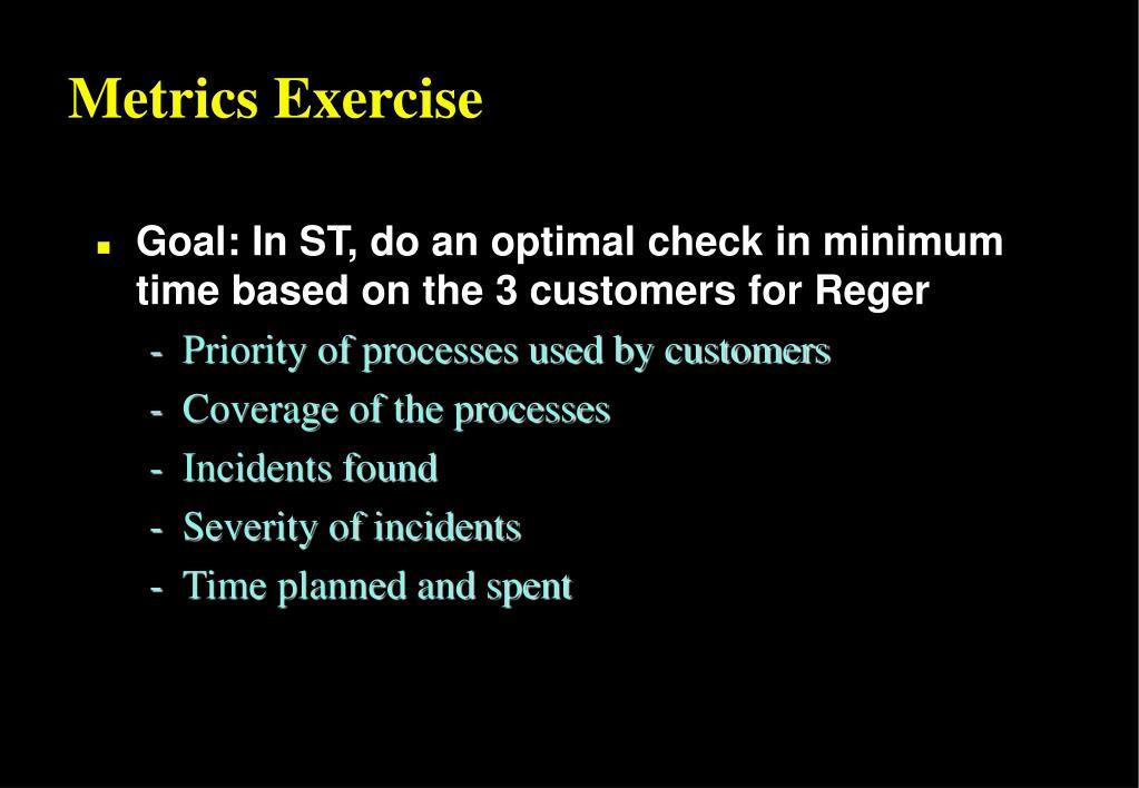 Metrics Exercise