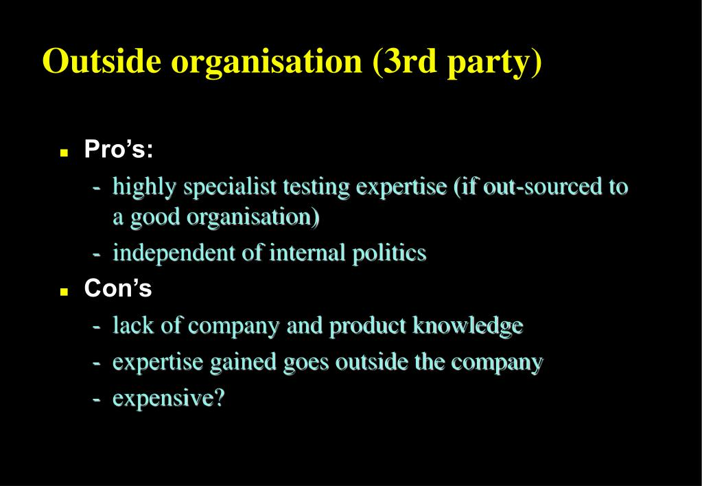 Outside organisation (3rd party)