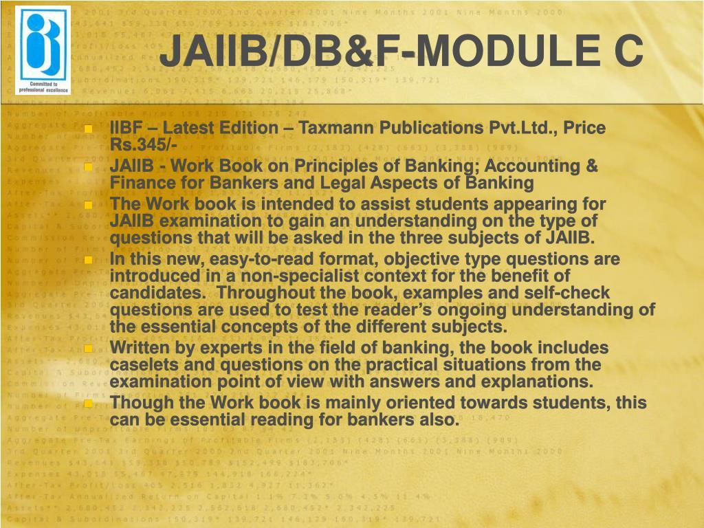 JAIIB/DB&F-MODULE C