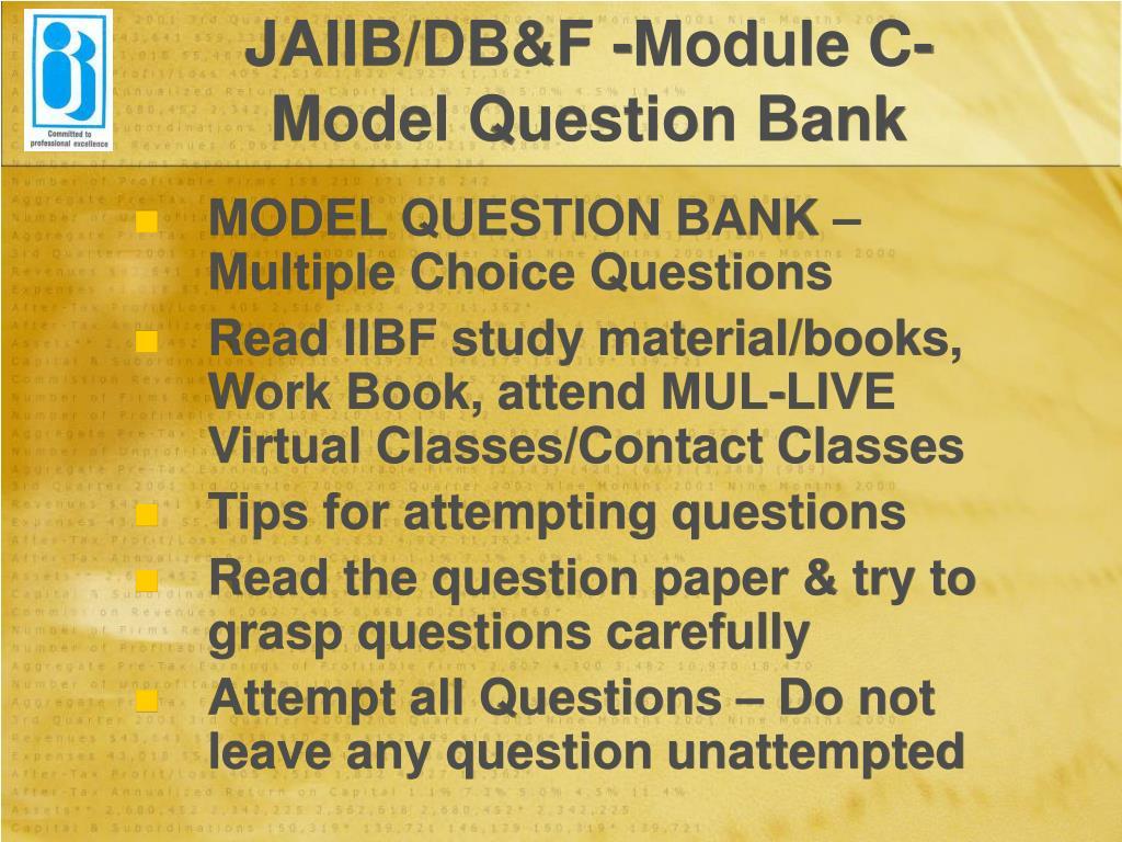 JAIIB/DB&F -Module C-