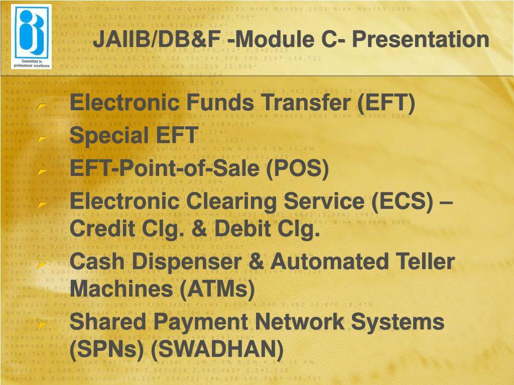JAIIB/DB&F -Module C- Presentation