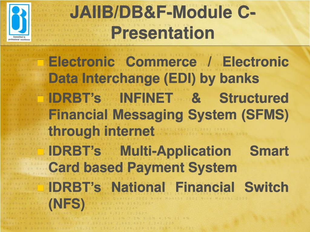 JAIIB/DB&F-Module C-Presentation