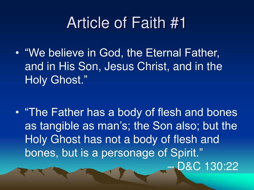 Article of Faith #1