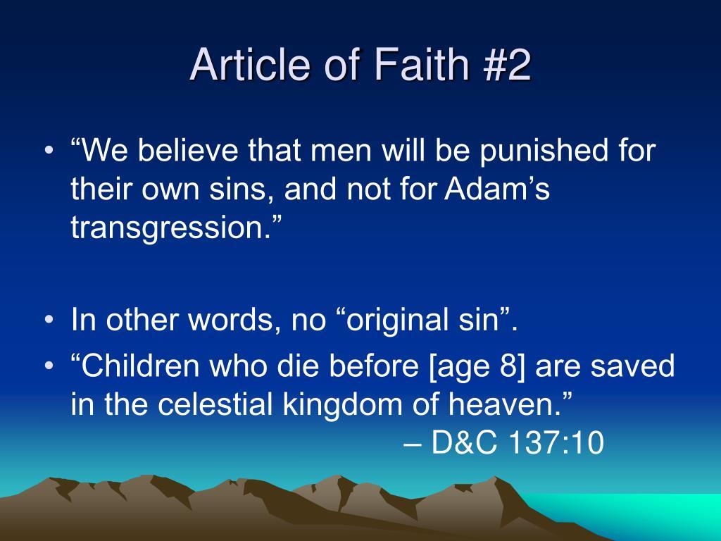 Article of Faith #2